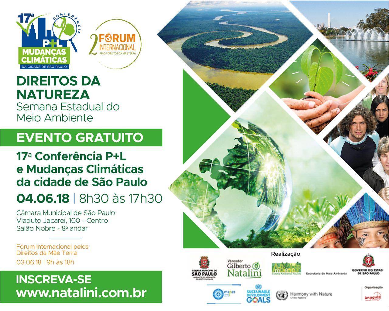 São Paulo realizará a 17ª Conferência de Produção Mais Limpa e Mudanças Climáticas  e o 2º Fórum Internacional da Mãe Terra