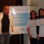Equipe do Saúde de Sustentabilidade: Paulo Saldiva (patrono), Evangelina Vormittag (diretora presidente) e Laís Fajersztajn (analista de projeto).