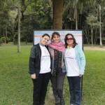 Equipe do Saúde e Sustentabilidade: Carla Mallett (voluntária), Leila Pinto (professora de yoga) e Evangelina Vormittag (diretora presidente)