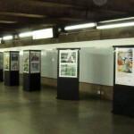 """Exposição """"Meio Ambiente e Saúde: o Desafio das Metrópoles"""" na Estação Tiradentes do Metrô."""