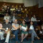 Dr. Volf Steinbaum, Oded Grajew, Alfred Szwarc e participantes