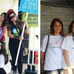 Equipe, voluntários e parceiros na Virada 2013