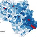 mapa poluicao