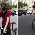O engenheiro Gabriel Figueiredo resolveu usar a máscara de poluição após sentir dores de cabeça e sintomas de rinite